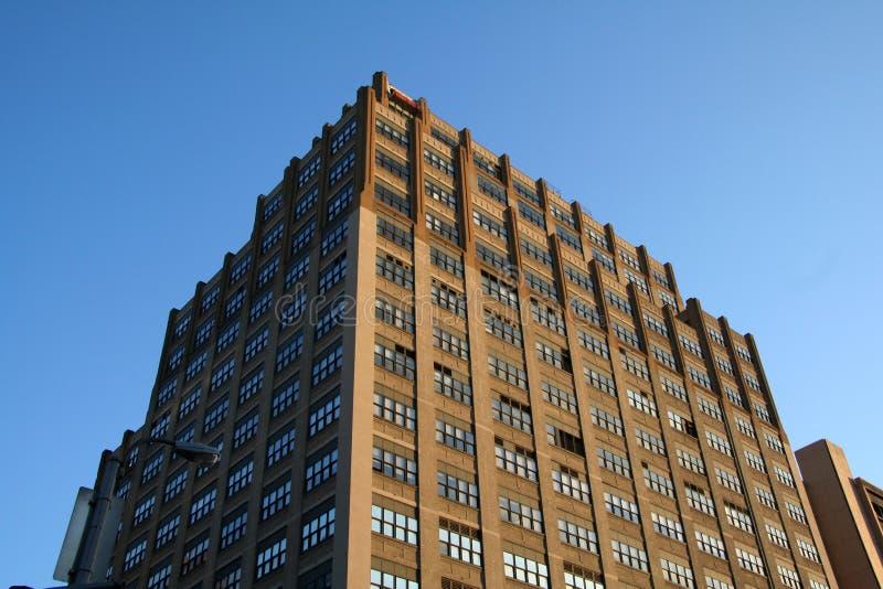 Bruin Flatgebouw royalty-vrije stock foto's