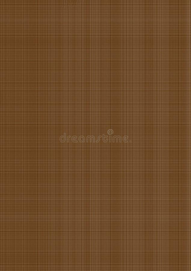 Bruin gekleed geweven behang als achtergrond royalty-vrije illustratie
