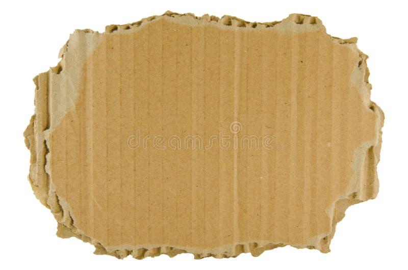 Bruin gescheurd karton royalty-vrije stock afbeelding
