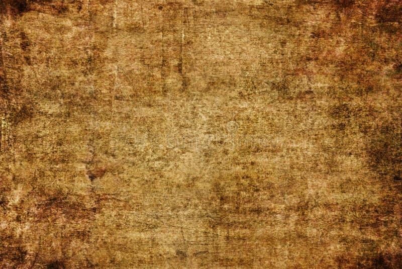 Bruin het Canvas van Grunge Donker Geel Rusty Distorted Decay Old Abstract het Schilderen Textuurpatroon voor Autumn Background W vector illustratie