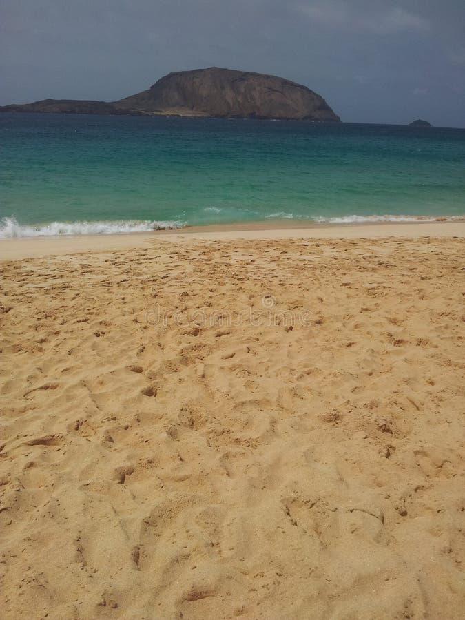 Bruin licht zand op het strand royalty-vrije stock afbeeldingen