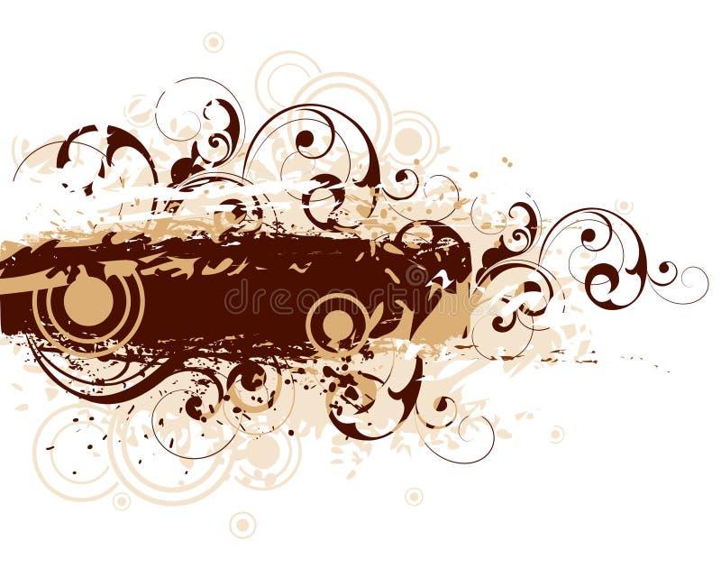 Bruin motief met krullen royalty-vrije illustratie