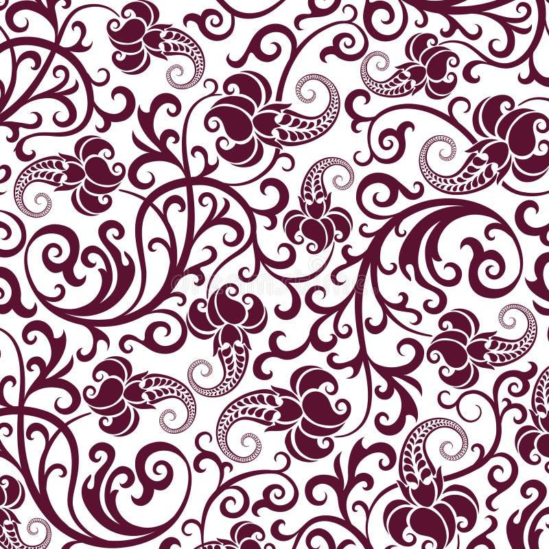 Bruin naadloos bloempatroon vector illustratie