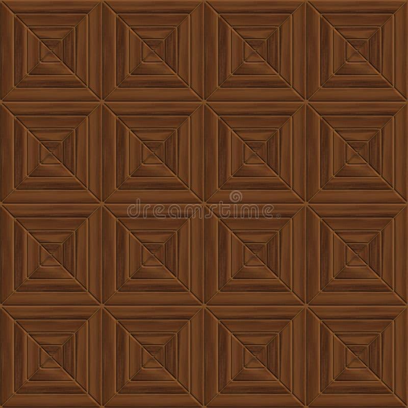 Bruin naadloos hout stock illustratie