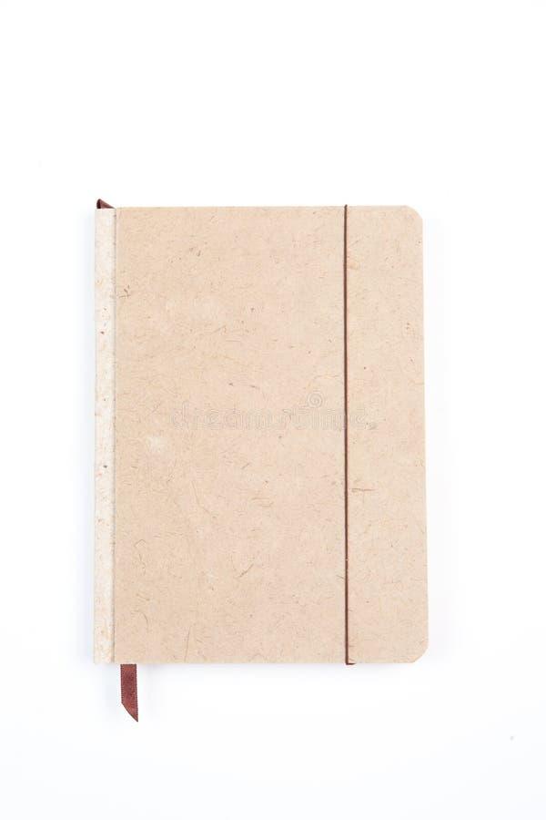 Bruin notitieboekje stock afbeelding