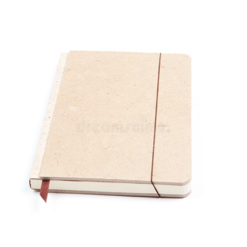 Bruin notitieboekje stock foto