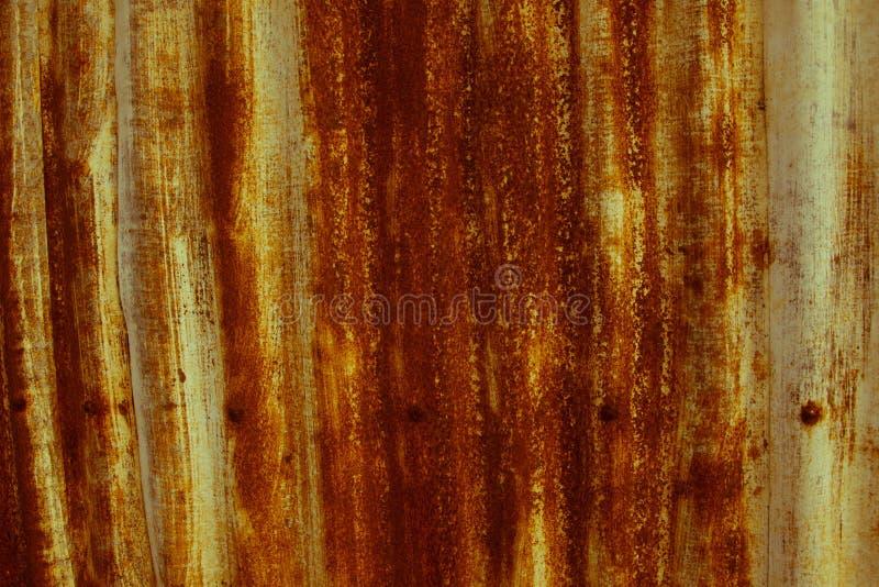 Bruin oud zink royalty-vrije stock fotografie