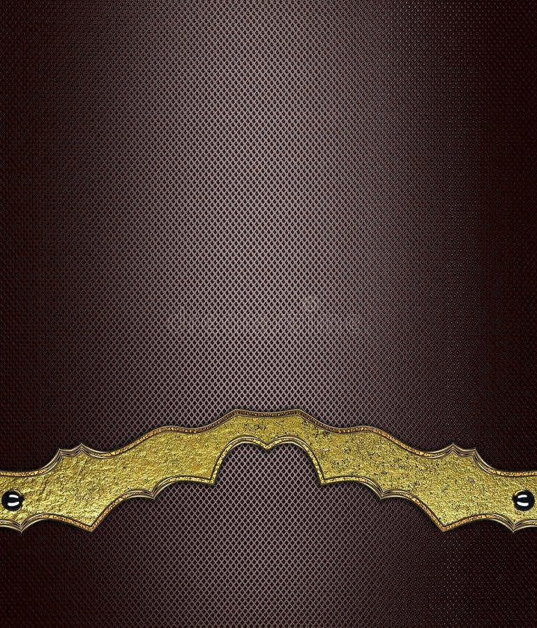 Bruine abstracte achtergrond met gouden patroon Malplaatje voor ontwerp en voor advertentiebrochure of aankondigingsuitnodiging stock illustratie