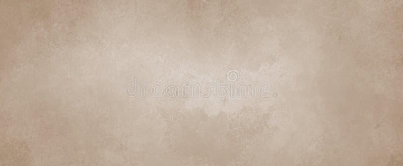 Bruine achtergrond met verontruste uitstekende grungegrenzen en bleke tan kleur vector illustratie
