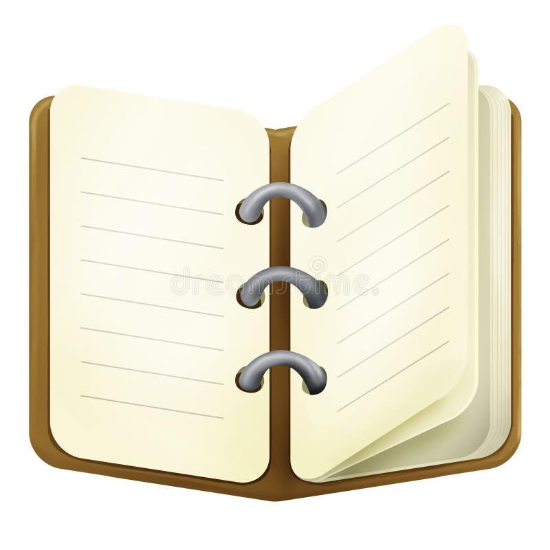 Bruine agenda stock afbeelding