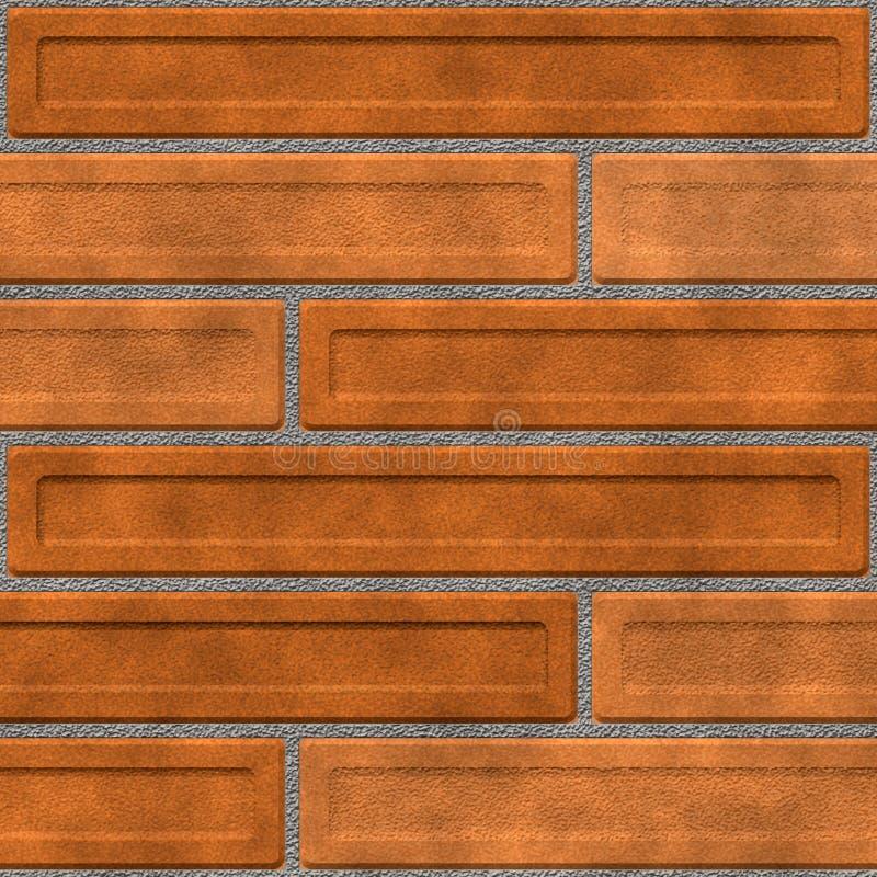 Bruine bakstenen muur stock illustratie