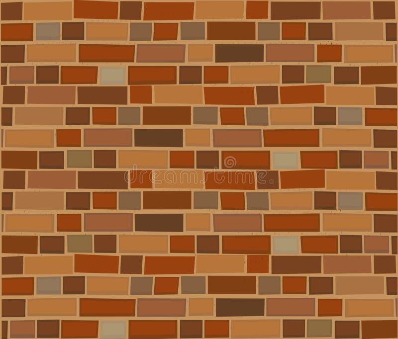 Bruine bakstenen muur abstracte achtergrond Vector illustratie vector illustratie