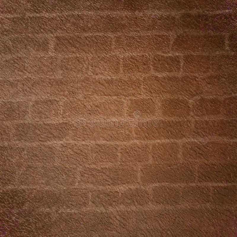 Bruine Bakstenen muurachtergrond royalty-vrije illustratie