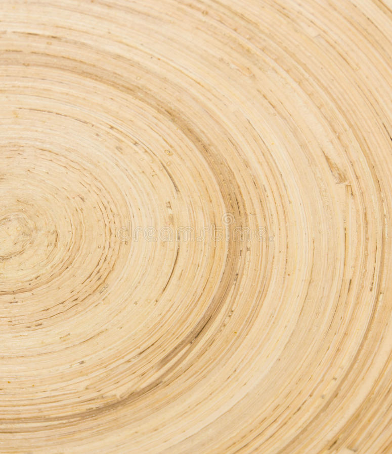 Bruine bamboetextuur in krommevorm stock foto