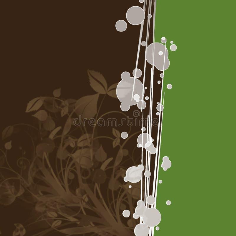 Bruine bladerenachtergrond royalty-vrije illustratie