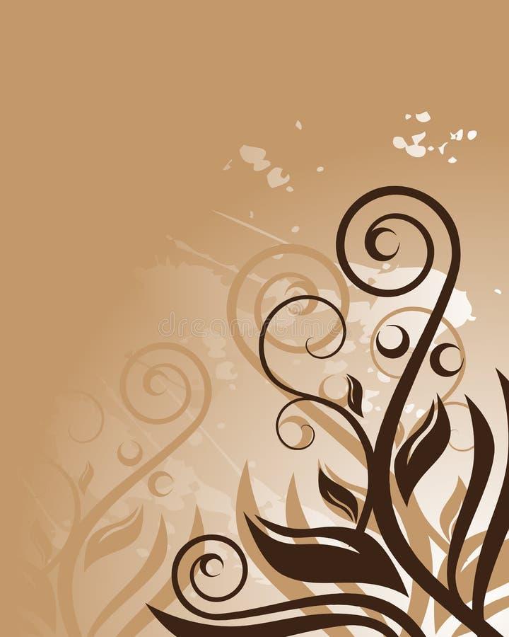 Bruine bloemenachtergrond vector illustratie