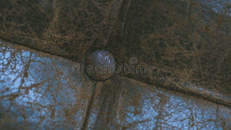 Bruine de Textuurachtergrond van het Leerkussen stock foto's