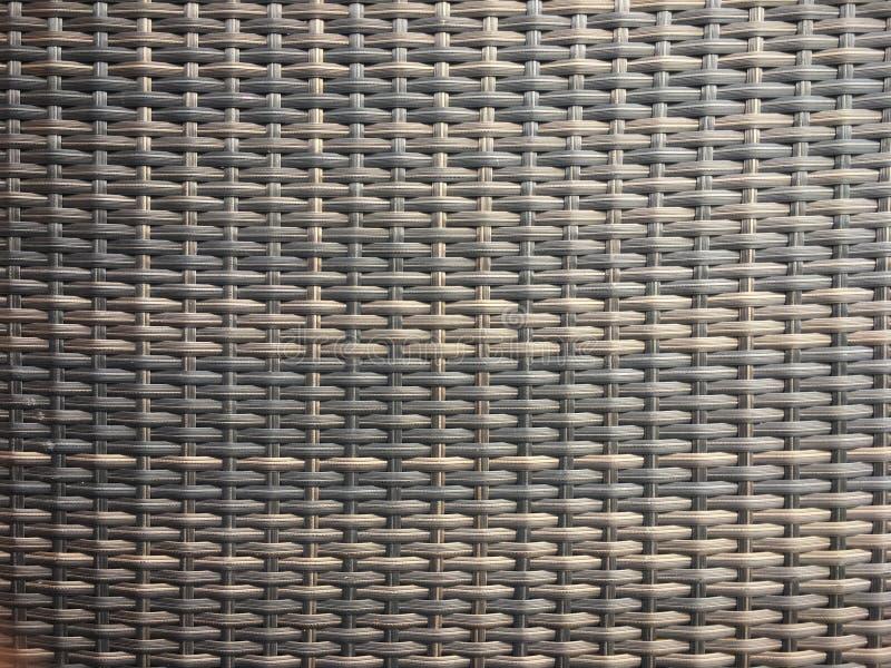 Bruine de textuurachtergrond van het rotanweefsel stock foto