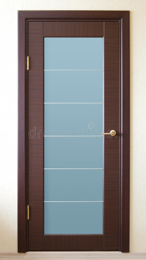 Bruine deur royalty-vrije stock foto