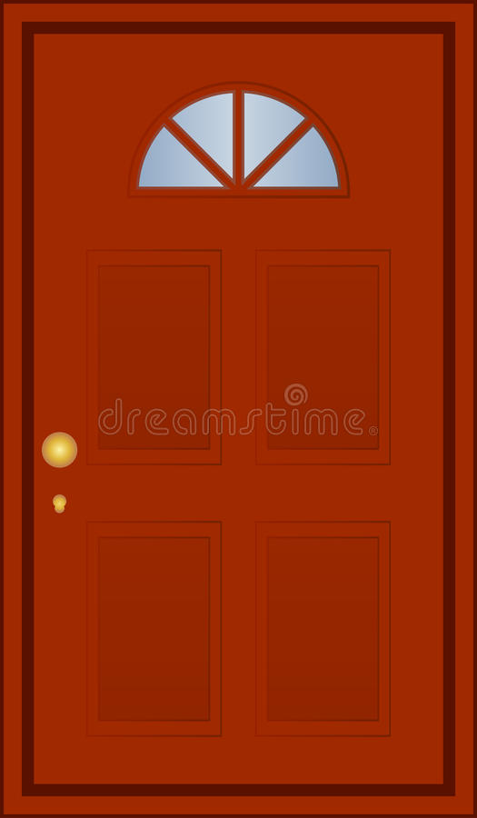 Bruine Deur Royalty-vrije Stock Foto's