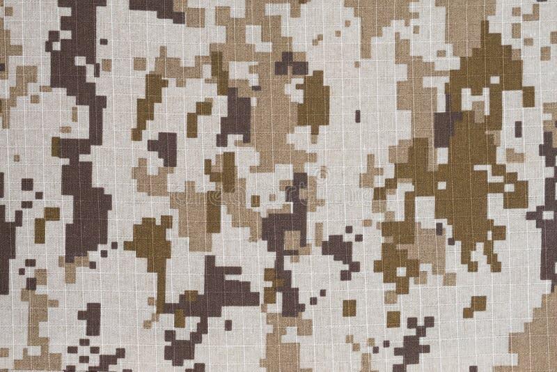 Bruine digitale militaire camo royalty-vrije stock afbeeldingen