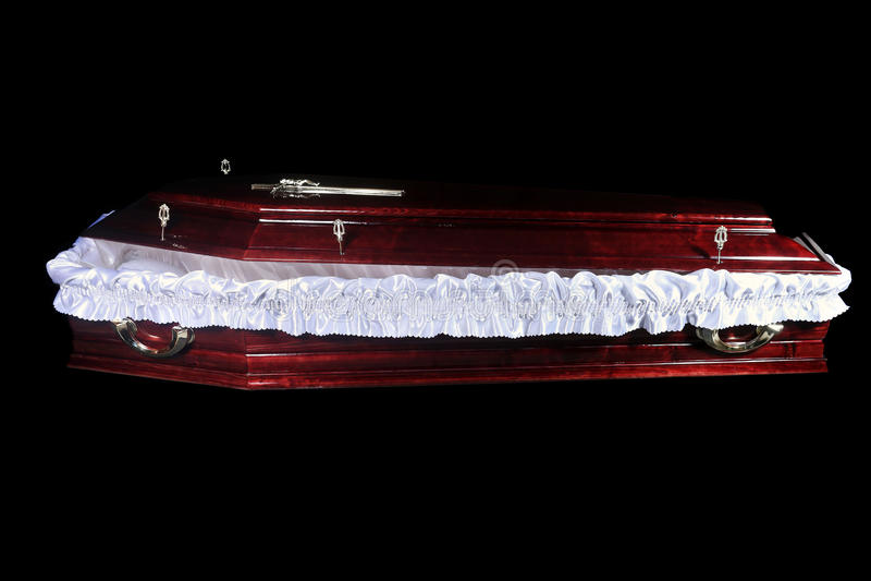 Bruine doodskist, binnenmening royalty-vrije stock afbeeldingen