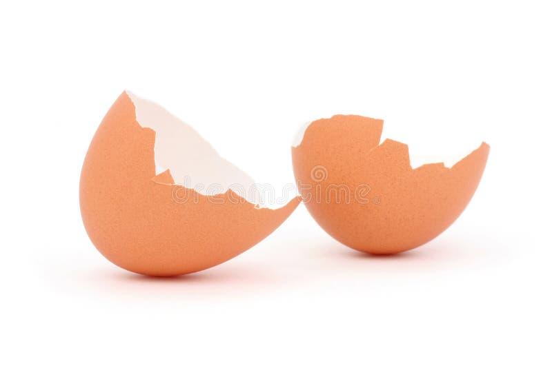 Bruine eierschaal royalty-vrije stock afbeelding