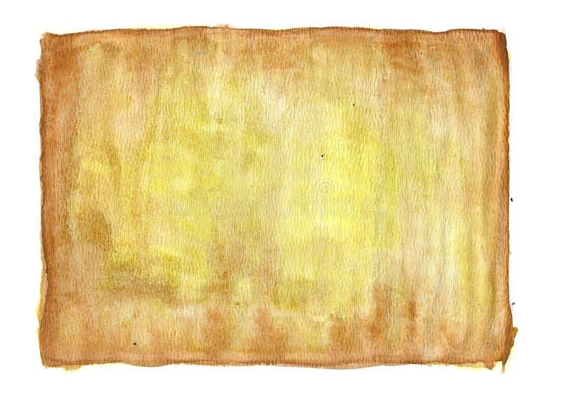 Bruine en gele waterverf royalty-vrije stock fotografie