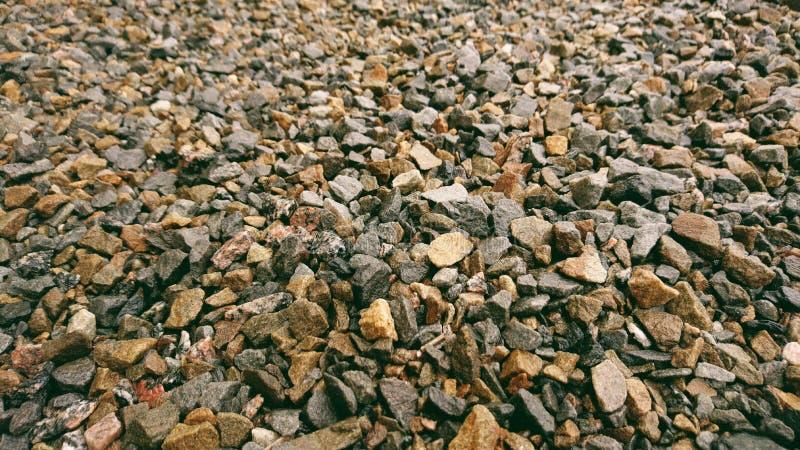 Bruine en grijze kiezelstenen royalty-vrije stock foto