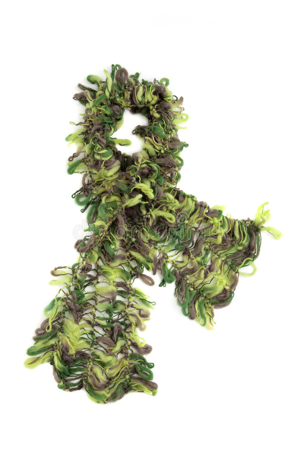 Bruine en groene mohairsjaal royalty-vrije stock afbeelding