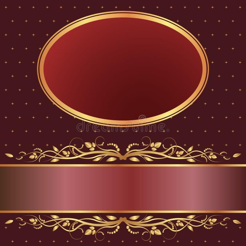 Bruine En Rode Achtergrond Stock Foto