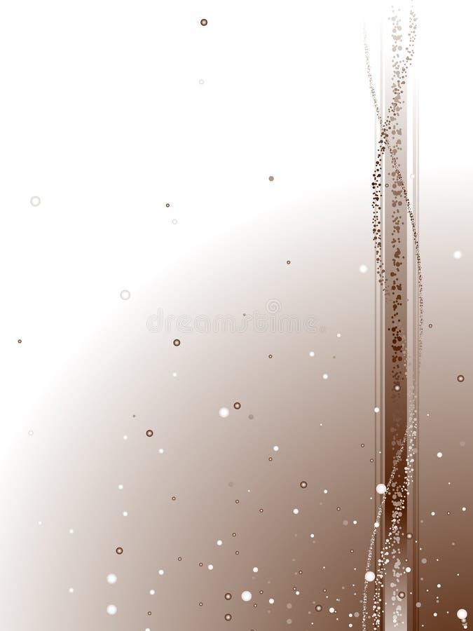 Bruine en witte morserij stock illustratie