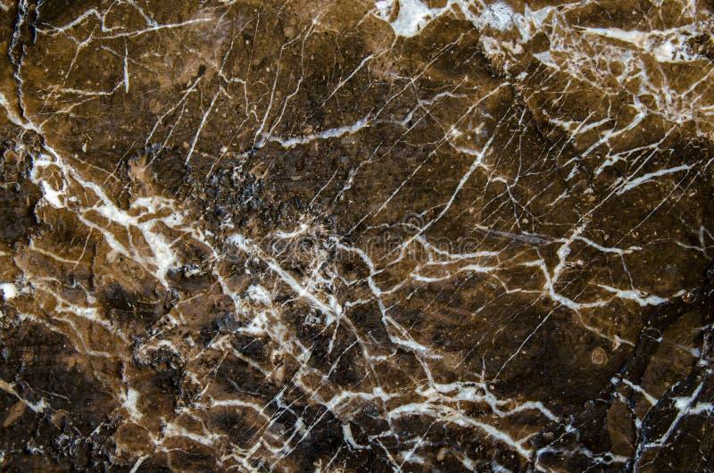 Bruine en Zwarte marmeren textuur, gedetailleerde structuur van marmer (hoge resolutie), abstracte textuurachtergrond van marmer royalty-vrije stock foto's