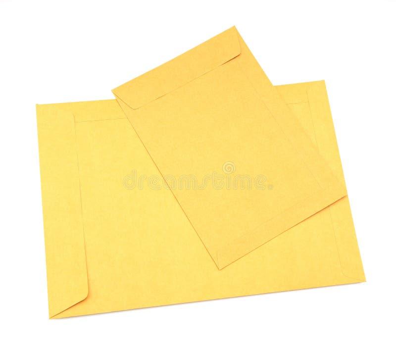 Bruine envelop stock foto's