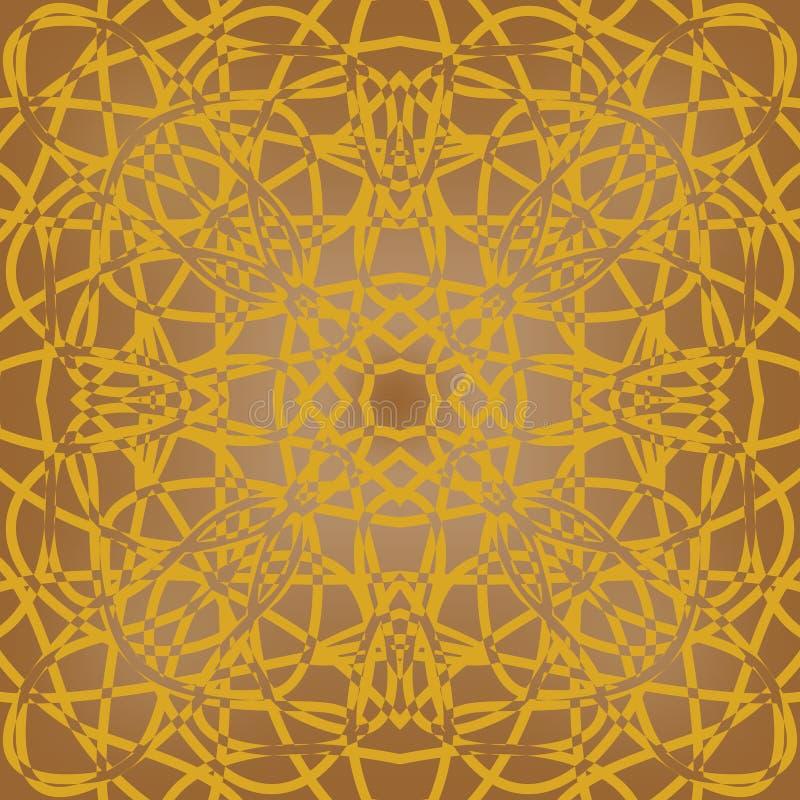 Bruine fijne gevormde tegel in art decoontwerp royalty-vrije illustratie
