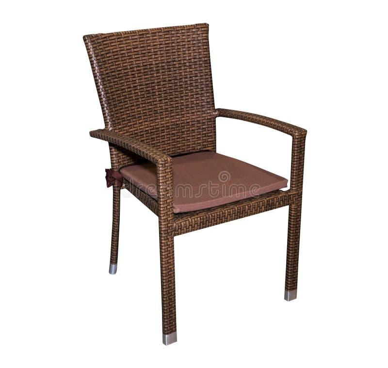 Bruine geïsoleerde keukenkruk (stoel) royalty-vrije stock afbeelding