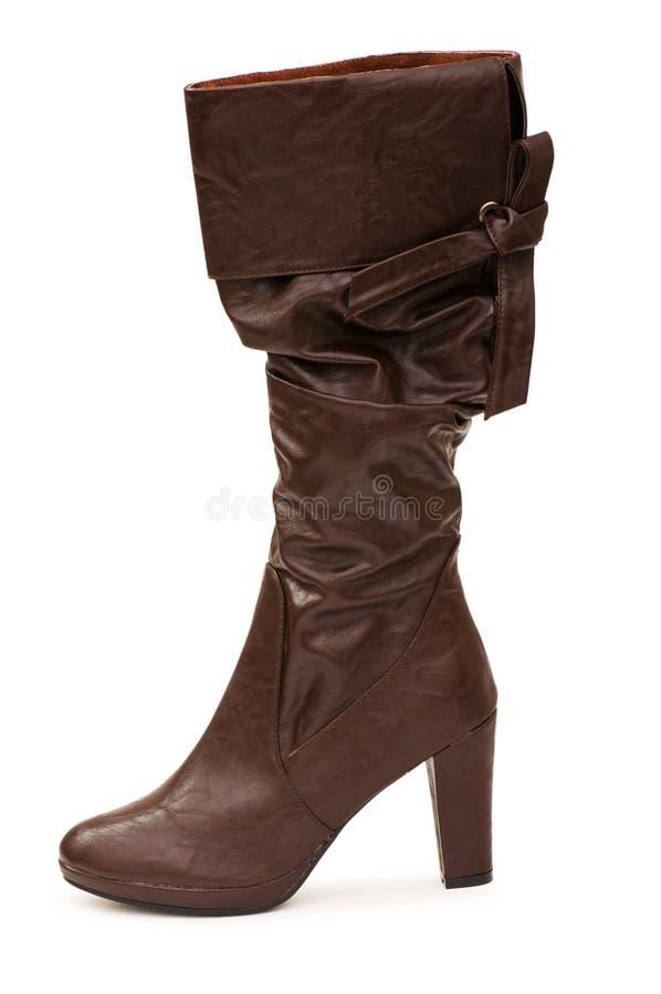 Bruine geïsoleerdeg laarzen royalty-vrije stock afbeelding