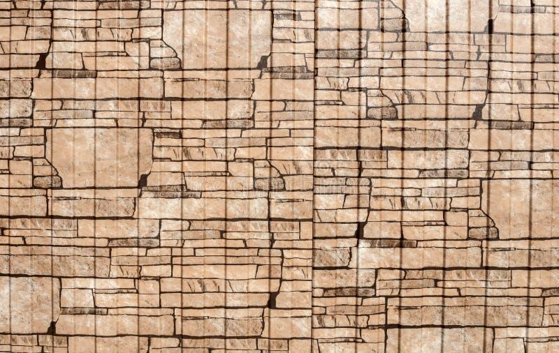 Bruine gevormde achtergrond stock afbeelding