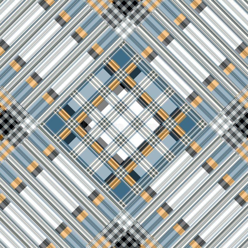 Bruine grijze blauwe witte lijnen mooie geometrische achtergrond vector illustratie