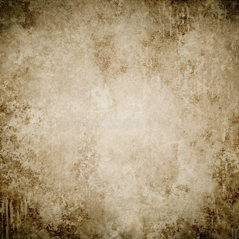 Bruine grungeachtergrond, document textuur, kader, verfvlekken, stai royalty-vrije stock afbeelding