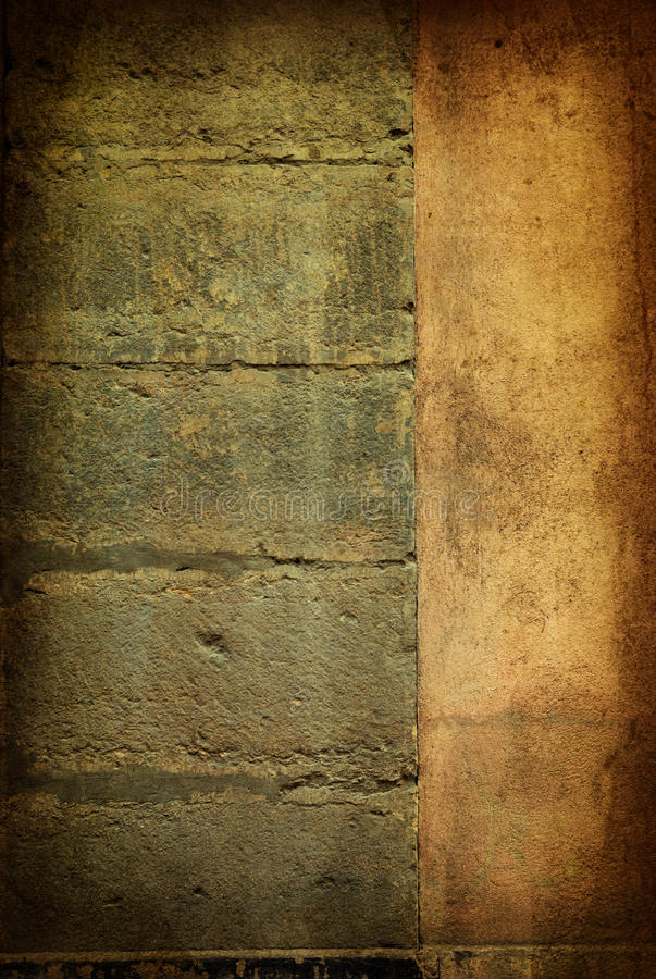Bruine grungy muur stock afbeelding