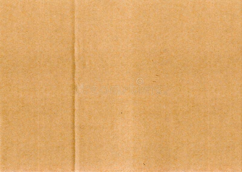 Bruine het document van de kartontextuur achtergrond stock afbeelding