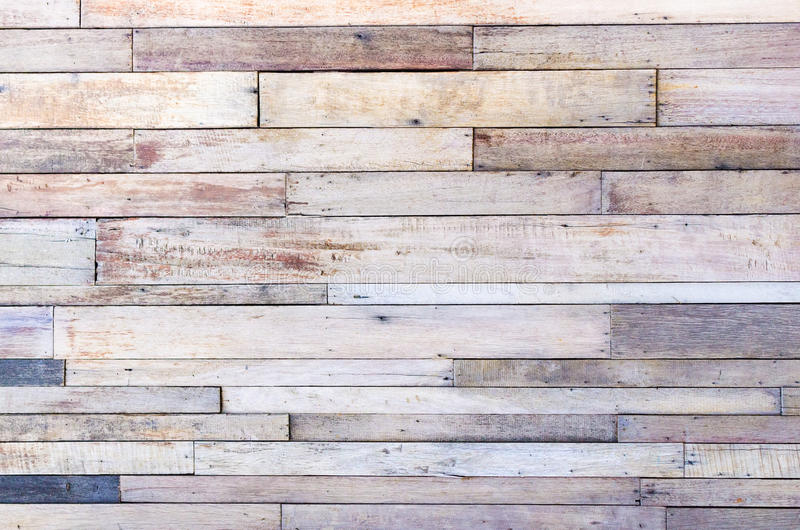 Bruine houten de textuurachtergrond van de plankmuur stock foto's