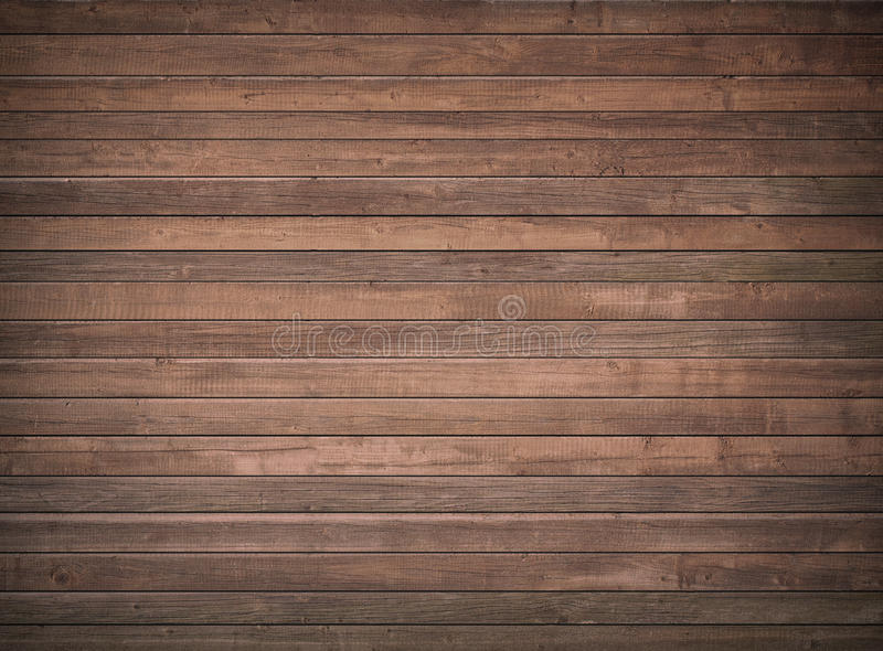 Bruine houten muur, lijst, vloeroppervlakte Donkere houten textuur stock fotografie