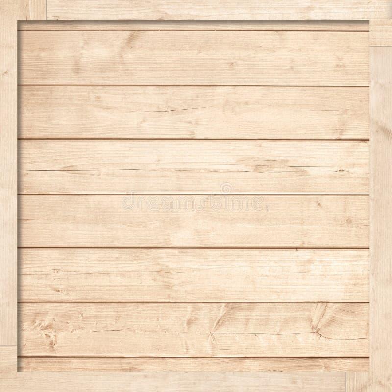 Bruine houten plankentextuur of achtergrond met kader stock foto's