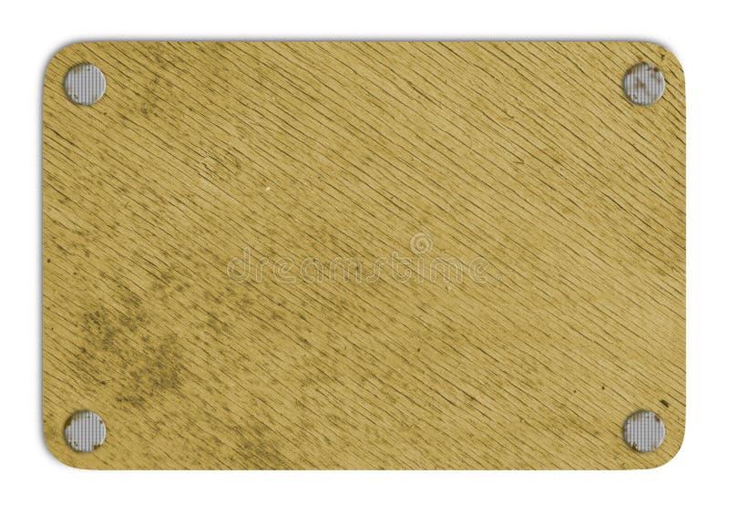 Bruine houten tablet royalty-vrije stock afbeeldingen