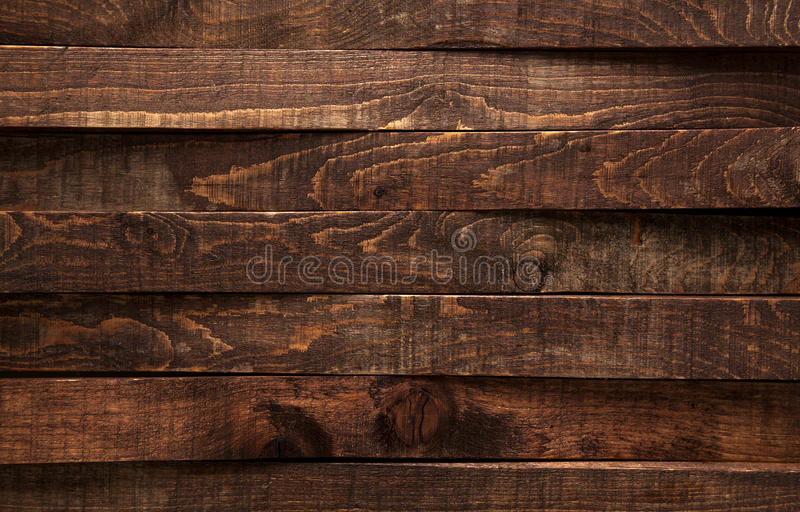 Bruine houten textuur Donkere oude houten panelen als achtergrond royalty-vrije stock foto's