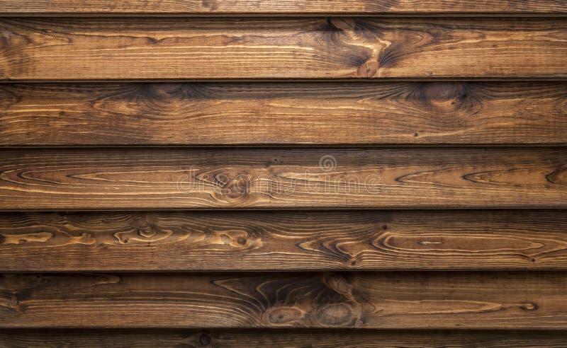 Bruine houten textuur Donkere oude houten panelen als achtergrond stock afbeelding