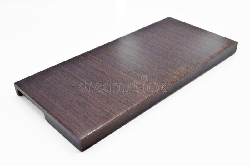 Bruine houten textuur, scherpe raad Een meubel Natuurlijk parket, stock foto