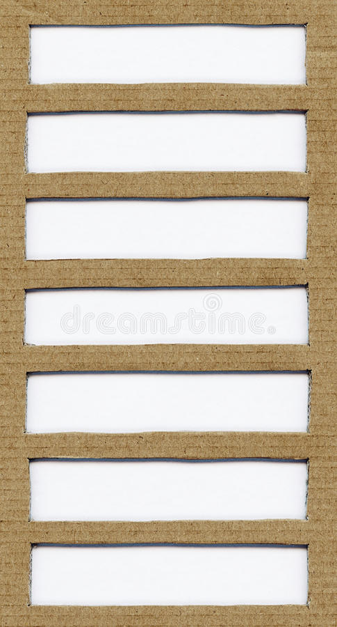 Bruine kartondocument textuur met exemplaarruimte, ruimte voor tekst, ontwerpelement stock afbeelding